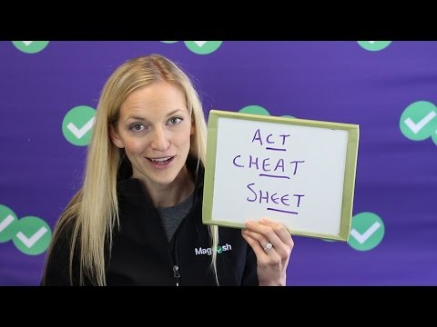 ACT Test Strategies | An ACT Cheat Sheet??