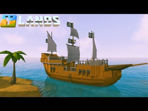 Ylands - How to Build a Pirate Ship (Speed Build)