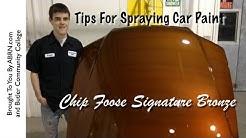 Spraying Chip Foose's Bronze Base Coat - Foose Signature Paint - DIY Spray Painting Tips