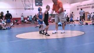 Brady wrestling freestyle at the Utah Summer Games
