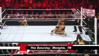 WWE Raw 08/22/11 - Eve Torres w/ Kelly Kelly vs. Nikki Bella w/ Brie Bella HD