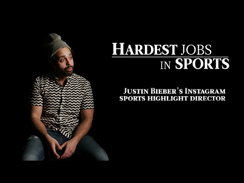 Justin Bieber's Instagram Highlights Director | Hardest Job In Sports