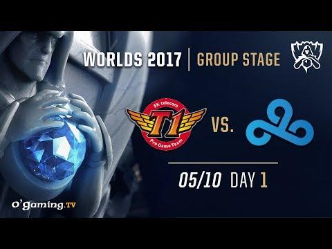 SKT T1 vs Cloud9 - World Championship 2017 - Group Stage - Day 1 - League of Legends