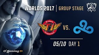 SKT T1 vs Cloud9 - World Championship 2017 - Group Stage - Day 1 - League of Legends