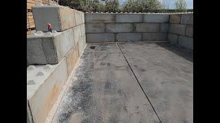 silos na wapno / garaż na maszyny z blokow betonowych