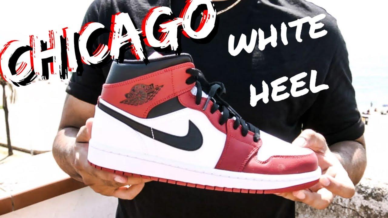ESTAS JORDAN 1 SON 🔥 Y SON MID!!J1 MID CHICAGO WHITE HEEL Review & On Feet