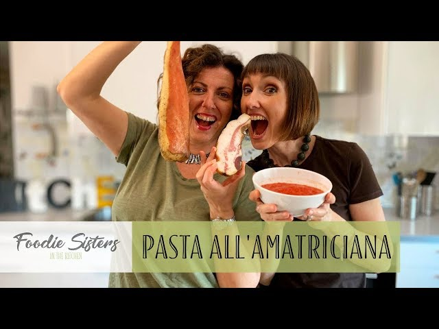 Pasta all'Amatriciana Recipe - Foodie Sisters in Italy