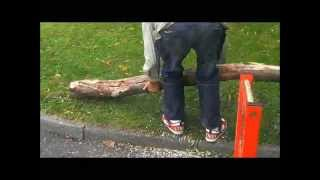 Chainsaw How To -  Chainsaw Holder , Quick Fire Log Holder , Timber Holder ,  Call 00447872102395