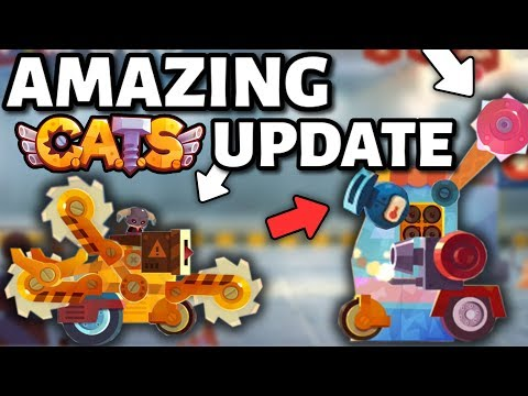 NEW ULTIMATE PARTS C.A.T.S UPDATE! (New Weapons & Body) Best Update Ever in Crash Arena Turbo Stars