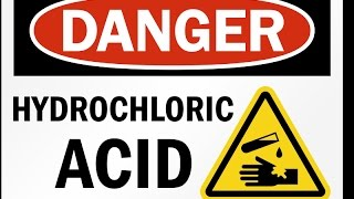 hydrochloric acid hcl poured on skin