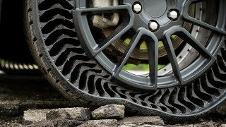 See what Michelin uses instead of air in its Uptis tires