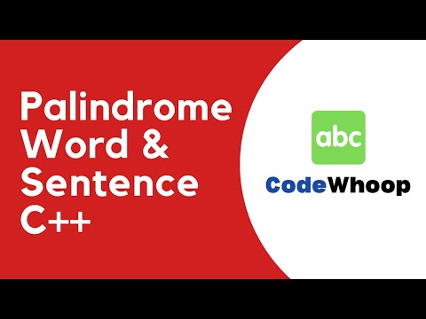 Strings Palindrome Word Sentence Program Using C Youtube