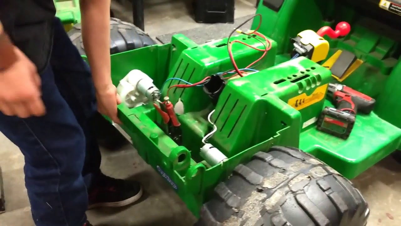 medium resolution of peg perego gator gearbox overhaul