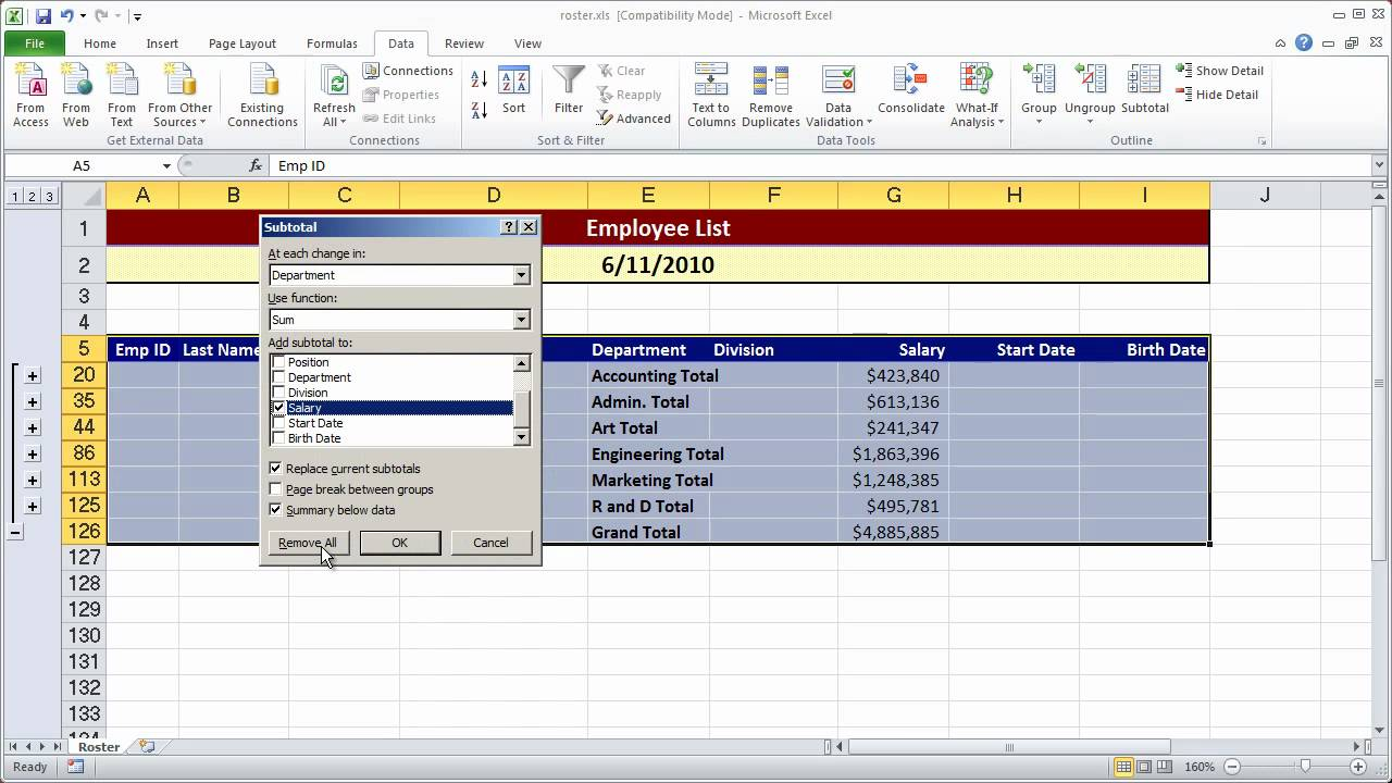 Creating a simple macro in Excel 2010 - Part 1 - YouTube