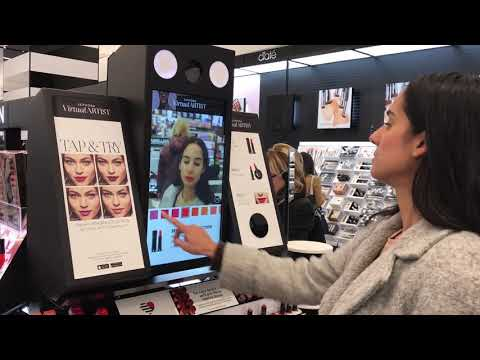 Sephora - Beauty and Cosmetics Virtual Try-On with Lift and Learn Magic Mirror Retail Display