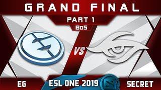 eg vs secret grand final esl one birmingham 2019 highlights dota 2 part 1