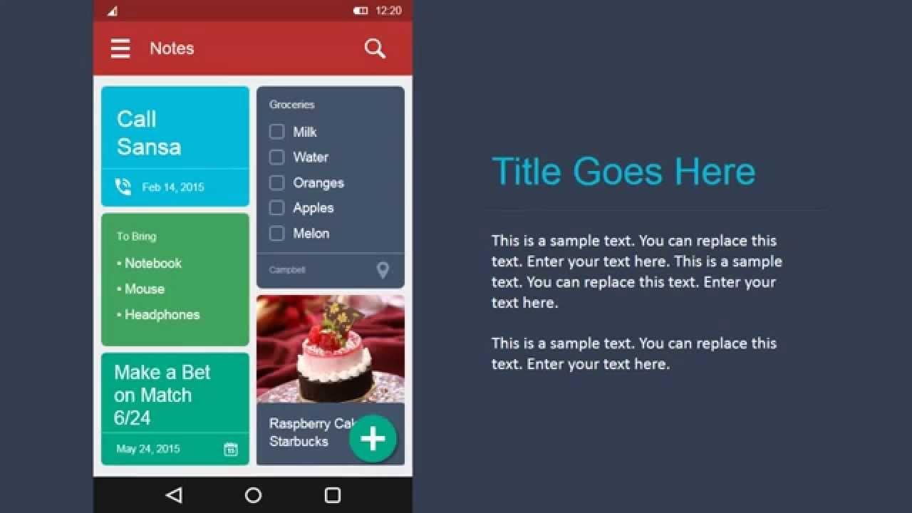 SlideModel com - Android UI Design Kit for PowerPoint