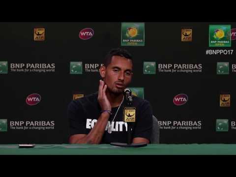 BNP Paribas Open 2017: Nick Kyrgios 4R Press Conference