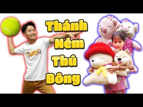 Tony | Thử Thách Ném Bóng Ăn THÚ BÔNG - Throw Ball Get Stuffed Animal
