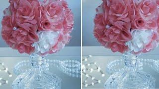 DIY| MINI ROSE BALL WEDDING DECOR 2017 UNDER $5.00 TO MAKE