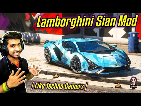 How to Install Techno Gamerz Lamborghini Sián Mod | Like Techno Gamerz | GTA 5 MODS