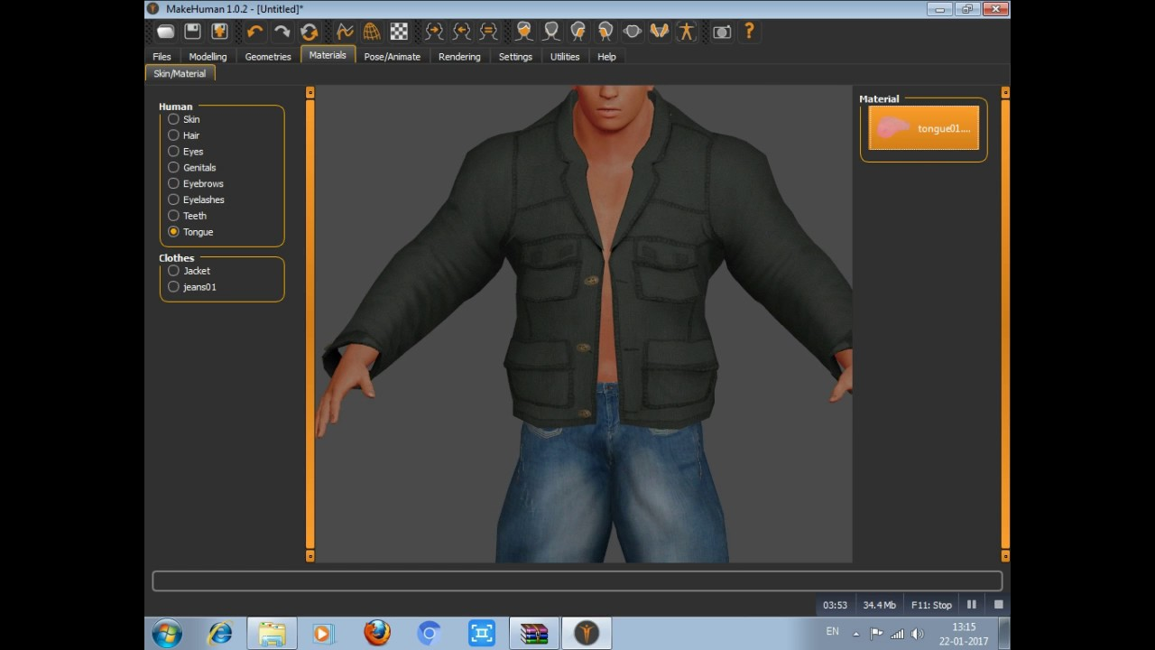 how to export a make humans model to blender 3d
