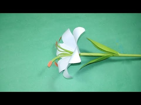 How To Make Lily Paper Flower - Easy Origami Lily Flowers For Beginners - Easy Paper Origami