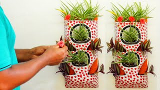 How to Make Beautiful Vertical Garden From Cement Use/Vertical garden diy