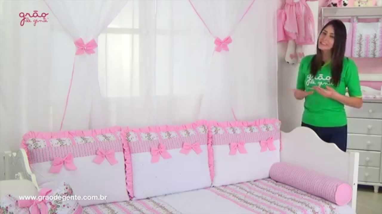 Kit cama bab princesa charlotte rosa ref 47718 youtube - Camas de princesas ...