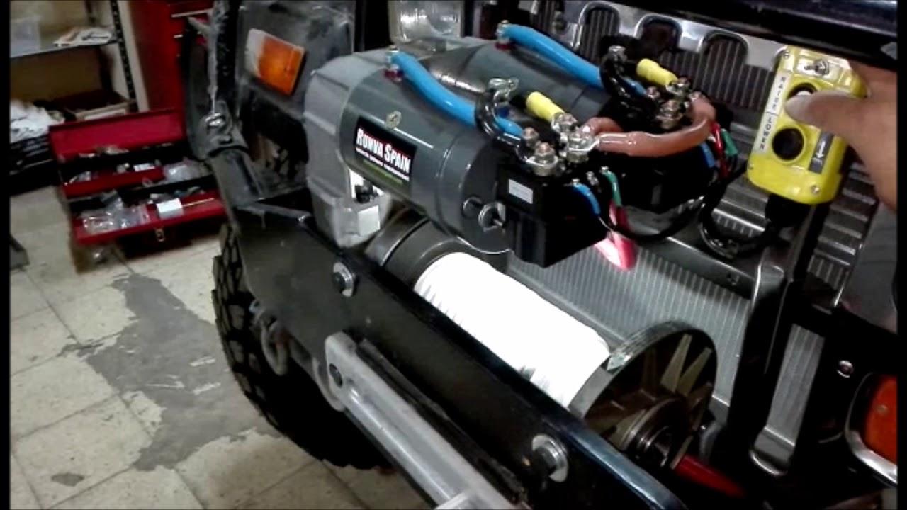 Winch Warn 8274 con cabezal Giggleplin con 2 motores Runva MT9500AV