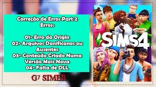 Corrija Erros do The Sims 4 2019/ Erro do Origin, Arquivos danificados ou ausentes, Erro de DLL +