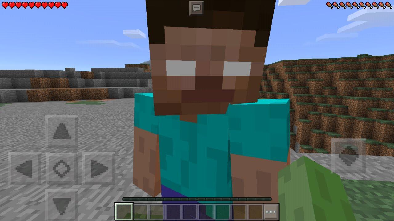 I Found Herobrine In Minecraft Pocket Edition How To