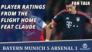 Player Ratings from the Flight Home feat Claude  | Bayern 5 Arsenal 1
