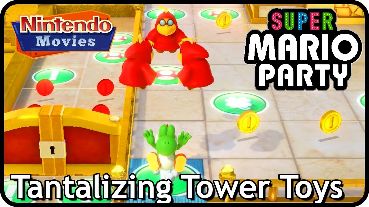 Super Mario Party - Tantalizing Tower Toys (10 Turns, 2 Players, Master Difficulty, Partner Party)