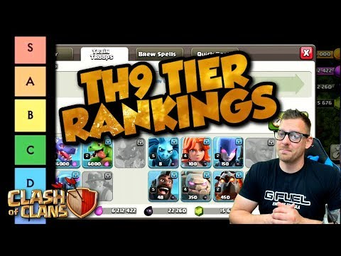 Clash Of Clans Tier List For TH9   All Troops And Spells Ranked