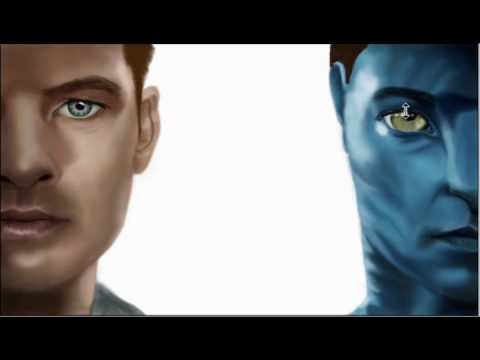AVATAR poster Photoshop speed painting