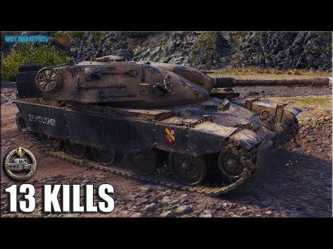 Бой мечты - против ДЕВЯТЕРЫХ ✅ World of Tanks лучший бой 13 фрагов T95/FV4201 Chieftain