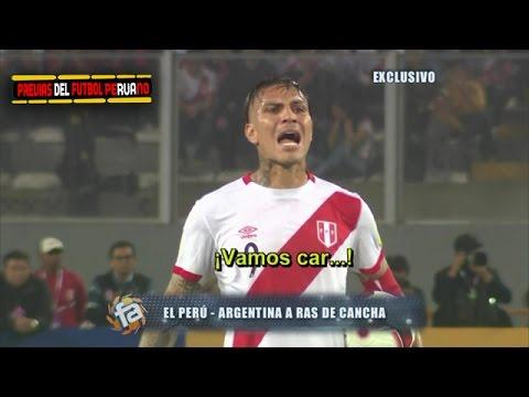 A Ras de Cancha Perú vs Argentina 2-2 en Futbol en America 09/10/2016