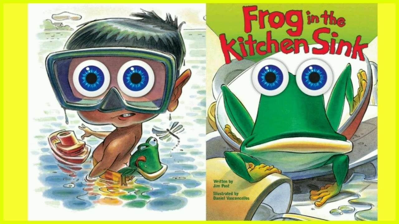 charming Frog In The Kitchen Sink Song #2: Frog in the Kitchen Sink! Storytime Read with me! - Story Time