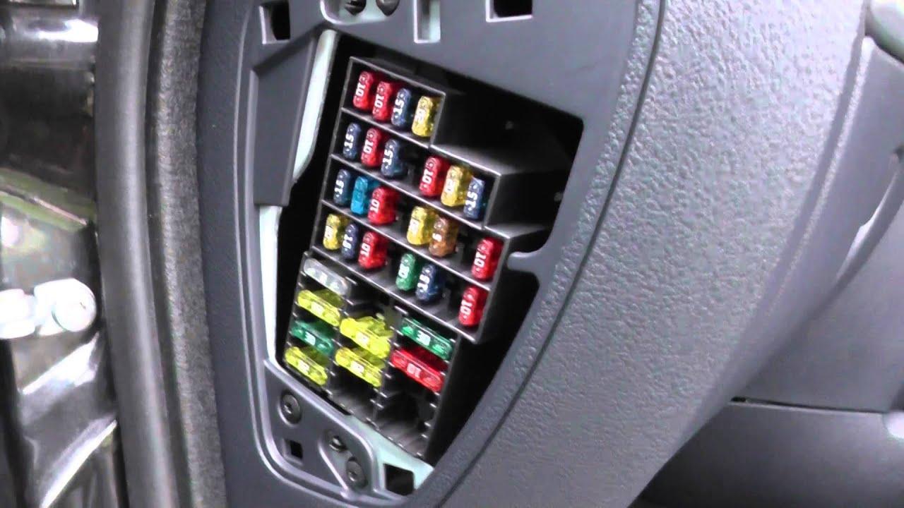 Renault Clio 2 Interior Fuse Box Location