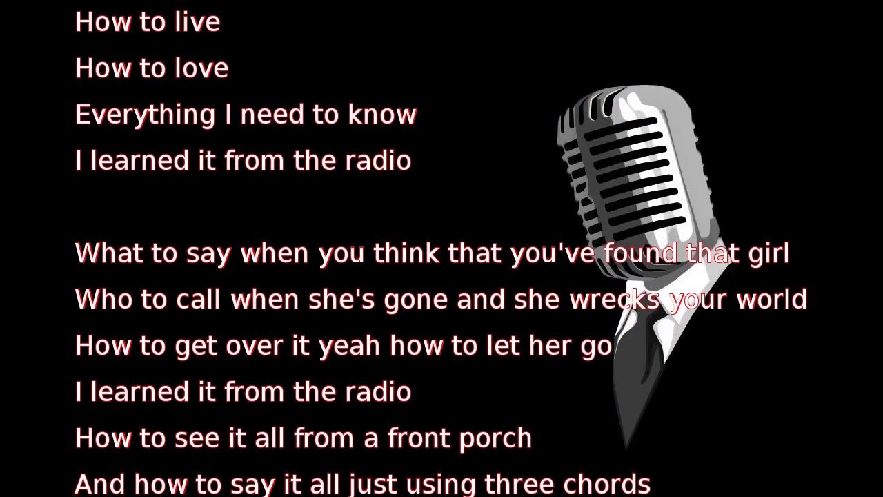 Thomas rhett learned it from the radio lyrics youtube thomas rhett learned it from the radio lyrics hexwebz Gallery