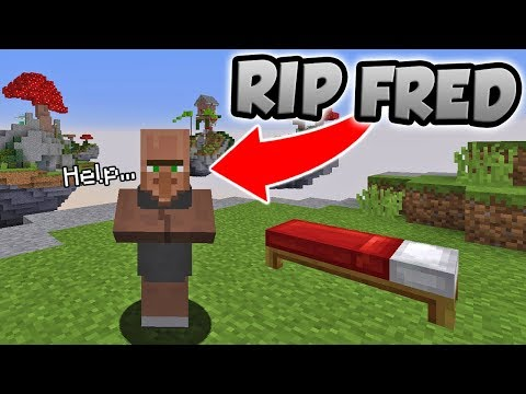 PLAYING BED WARS AS FRED THE VILLAGER