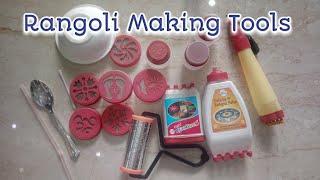 Unboxing Rangoli Making Tools   How To Use Rangoli Tools   CraftLas