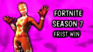 FORTNITE First win FAKE OG SKIN (GINGER GUNNER) | FORTNITE SEASON 7 BATTLE PASS