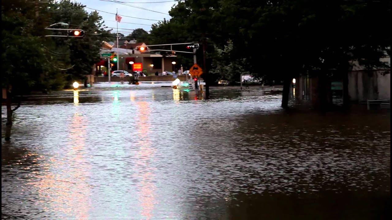 Main Street Flooding Lodi New Jersey Youtube
