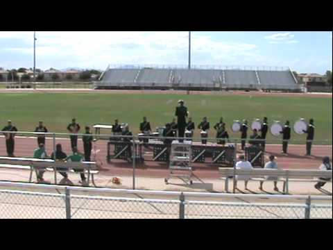 Peoria High School Marching Band in Arizona Percussive Arts Competition 9-24-11