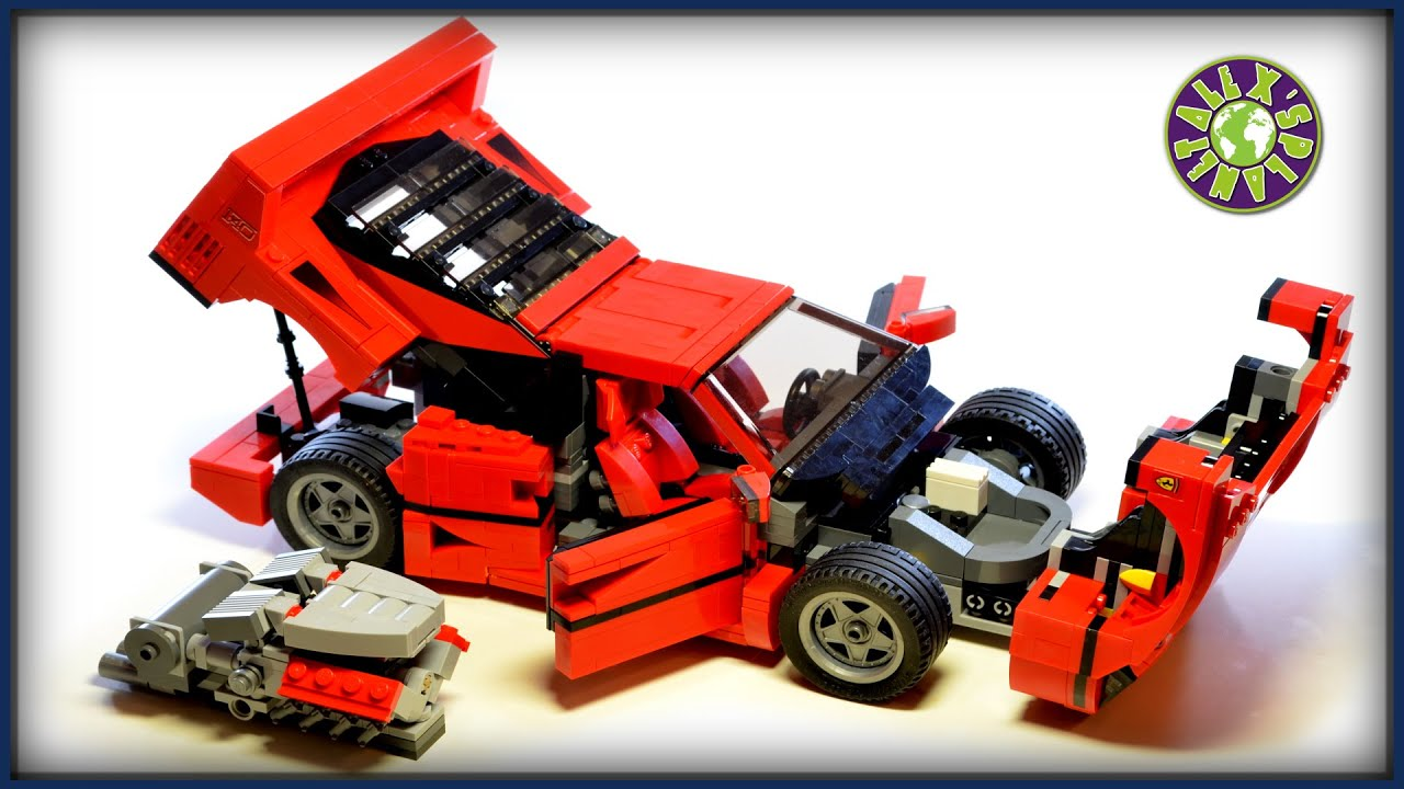 lego ferrari f40 with v8 engine stop motion review alexsplanet youtube. Black Bedroom Furniture Sets. Home Design Ideas