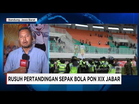 Rusuh Pertandingan Sepak Bola Antara Jabar vs DKI Jakarta - Live Report PON Jabar