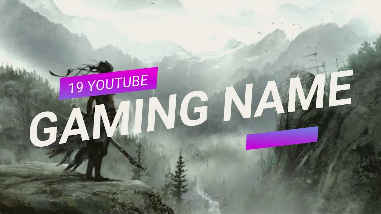 19 YOUTUBE GAMING CHANNEL NAME IDEAS | 19 Youtube Names ...