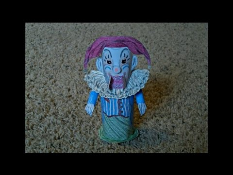 Papercraft Paper Model of the Jack in the Box Clown from the Movie